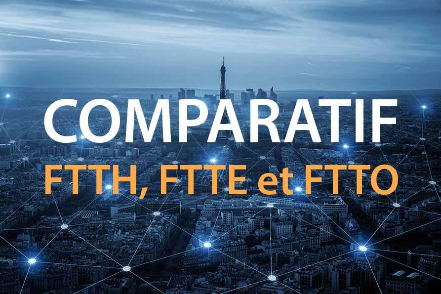 Schémas FTTH, FTTE et FTTO